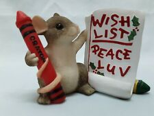 """Charming Tails Signed Dean Griff Titled """"Mackenzie's Wish List"""" Excellent Cond"""