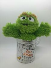 Sesame Street Oscar The Grouch Trash Can Plush Go Away 2012 Gund 10""