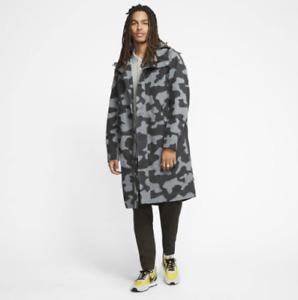 Nike Sportswear Parka Mens Large-Tall Jacket Smoke Grey Camo CK2536-084 $230