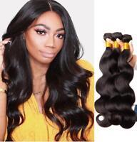 3 Bundles 300g 100% Brazilian Virgin Human Body Wave Hair Extensions Weave Wefts