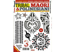 TRIBAL MAORI POLYNESIAN Tattoo Flash Design Book 64-Pages Color Black White Art