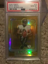 2006 Finest Drew Brees #70 Gold Refractor PSA 10 Rare