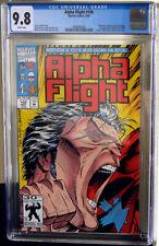 Alpha Flight #106 Northstar/Major Mapleleaf CGC NM/MT 9.8 White Pages 3698950009