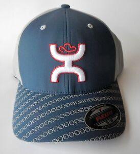 HOOey 1721NVGY-01 Mens SOLO III Flexfit Baseball Cap Navy Hat S/M