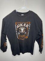 Harley Davidson Men XL Black LongSleeve American Born Live To Ride Biker T Shirt