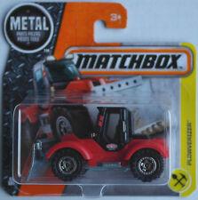 Matchbox - Plowverizer Tractor Plow  Traktor mit Schneepflug schwarz/rot Neu/OVP