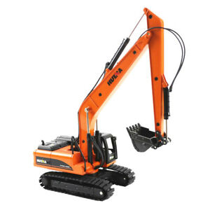 1:50 Alloy Long Arm Excavator Model Metal Engineering Construction Vehicle Toys