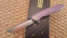 We Knife Co 604C PURPLE Dragon Titanium scale TANTO S35VN Blade Flipper EDC