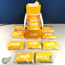 25 x 140pcs Yellow Slim VENTTI Filter Tips Tube Tobacco Cigarette Roller Rolling