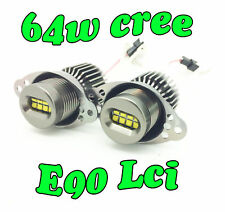 64W White Angel eye LED upgrade Bulbs Fits BMW 3 SERIES E90 E91 LCI Halo ring