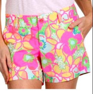 Lilly Pulitzer Ice Cream Social Callahan Shorts Retro Neon Vacation Preppy