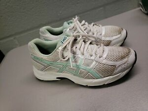 Asics GEL Contend 4 Womens 6 White  Lace Up Running Shoes