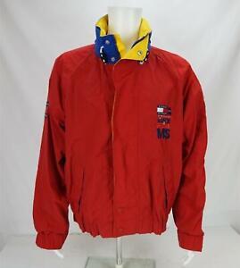 VTG Tommy Hilfiger VH1 Race To End MS Windbreaker Jacket Red/Blue Men's Large