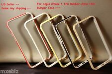 """For Apple iPhone 6 4.7"""" TPU Rubber Ultra Thin Bumper Case Frame Cover"""