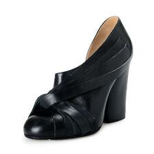Maison Margiela 22 Mujer Cuero Negro Tacón Alto Zapatillas Ee. Uu. 7 It 37