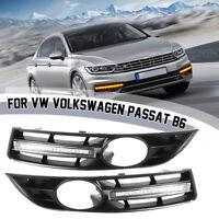 2X L+R LED Tagfahrlicht Lampe DRL Grill Für VW / Volkswagen Passat B6 2006-2009