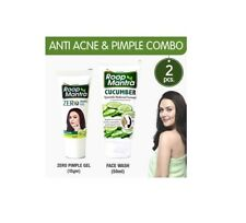 Roop Mantra Anti Acne Combo Zero Pimple Gel 15gm + Cucumber Face Wash 50ml