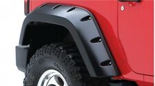 BUSHWACKER MAX COVERAGE FENDER FLARES 07-17 JEEP WRANGLER JK 2 DOOR REAR SET