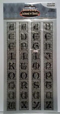 Alphabet 72 Letters  2 Iron-On Transfer Sheets  4-1/2 x 8 Inches each NIP