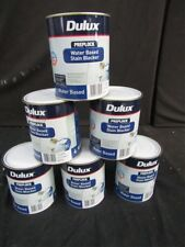 DULUX 4 LITRE PREPLOCK  QUICK-DRY WATER-BASE STAIN-BLOCKER  WHITE COLOUR PAINT
