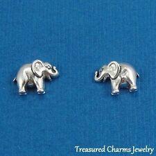 .925 Sterling Silver ELEPHANT Post Stud EARRINGS