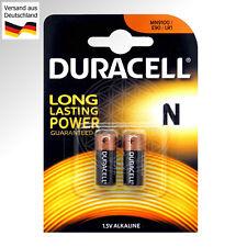 2 DURACELL N 1,5V Alkaline Batterien LR01 LR1 E90 MN9100 B2 1.5V LADY Security