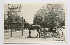 Rppc - Hardin, Ky - Scarce Small Town America 1950s Roadside Scene Hitching Post