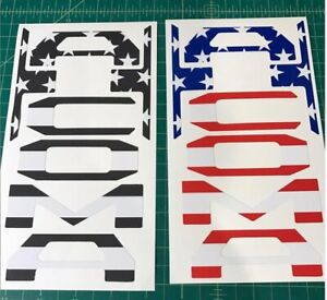 Fits Toyota Tacoma SUBDUED US FLAG Tailgate Inserts 3rd Gen TRD Pro USA SELLER