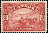 1929 Mint Canada F+ Scott #157 20c King George V Scroll Stamp Never Hinged