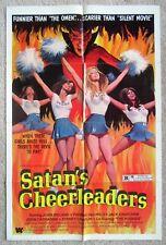 SATANS CHEERLEADERS ORIGINAL 1977 1SHT MOVIE POSTER FLD SEXPLOITATION EX