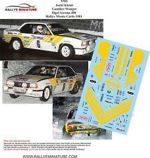 DECALS 1/43 REF 1753 Opel Ascona 400 Kleint  Rallye Monte Carlo 1981 Rally
