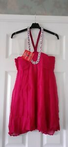 Fusia Pink Dress By LOOK Womens Size 10 New With Tag