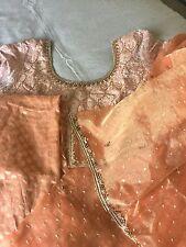 Indian Stylish Orange silk suit embellished in zari embroidery By Pashmina ..