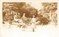 C44/ Los Angeles California Ca Postcard c1920 Photo RPPC Ostrich Farm Women Cart