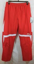ASICS Men's Surge Warm-Up Pant (Red/White) Small Retail $50 Size XL NWT