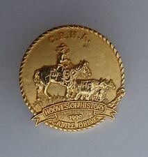 CRHA Canadian Rodeo Historical Association 1990 Cattle Drive Lapel Souvenir Pin