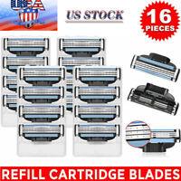 16xReplacment for Gillette MACH 3 Male Razor Blades Shaving Cartridges Refill