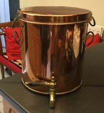 Fab Antique Victorian Copper Water Tea Urn Boiler With Skillet Pan Lid