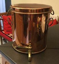 Fab Antique Victorien Cuivre Eau Tea Urn Boiler avec Poêle Casserole Couvercle