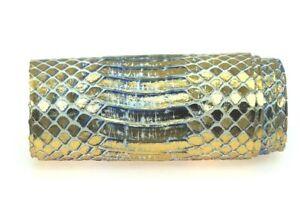 Metallic Cobra Snake Leather Hide Snakeskin Craft Supply 2 Colorways