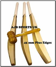 Monster Size Custom Made English Willow Cricket Bat 45mm Plus Edge Weight 3lb