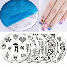 Round Nail Stamping Plates Valentine Love Stencil Image Templates Nicole Diary