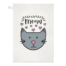 Meow Gatto Luna asciugamani Dish Cloth-divertente Crazy Gatto Gattino Lady