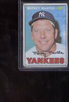 1967 topps  #150 Mickey Mantle, vintage Yankee  BASEBALL Card vg+
