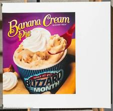 Dairy Queen Promotional Poster For Backlit Menu Sign Banana Cream Pie dq2