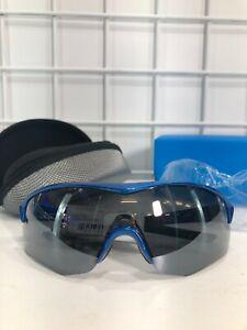 Shimano Sunglasses CE-SPRK1MR Metallic Blue/ Smoke Silver Mirror New in Box