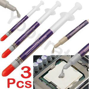 Silicon Thermal Heat sink Compound Cooling Paste Grease Syringe PC CPU Processor