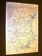 Carta geografica mappa Venezia Ferrara Rovigo Este Touring Club Italiano 1922