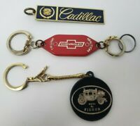 Vintage Lot of Keychains Fisher Body Chevrolet Cadillac Flint Michigan