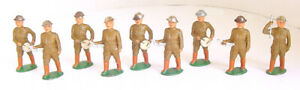 """1930s BARCLAY MANOIL WORLD WAR I MARCHING BAND TOY SOLDIER SET 3"""""""